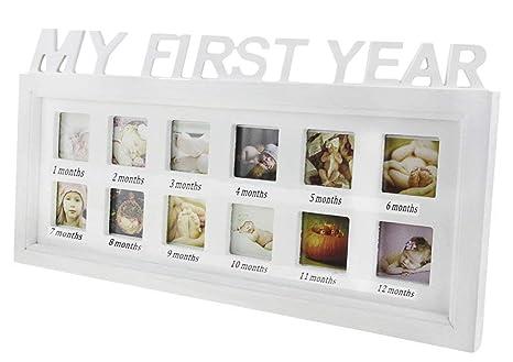 Marco de fotos para bebés, MI PRIMER AÑO Cumpleaños Infantil ...