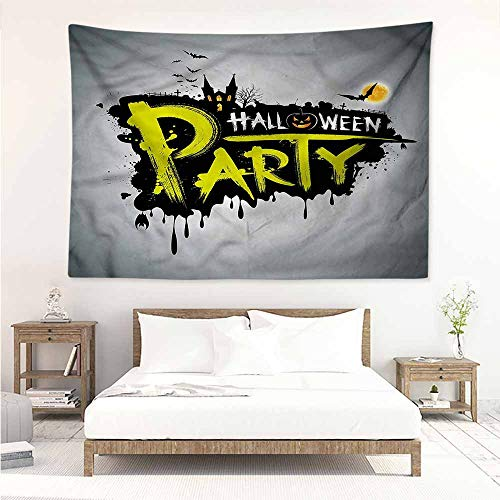Sunnyhome Wall Tapestry for Bedroom,Halloween Brushstrokes Artistic,Beach Tapestry,W90x59L ()