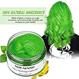 MOFAJANG Unisex Hair Color Dye Wax Styling Cream Mud, Natural Hairstyle Pomade, Temporary Hair Dye Wax for Party, Cosplay & Halloween, 4.23 oz (Green)