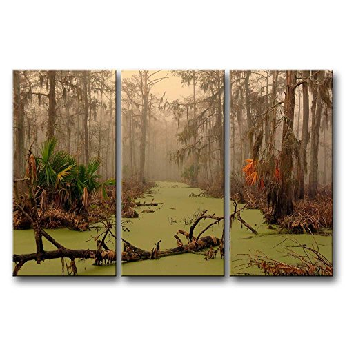 Dead Photo Tree (So Crazy Art 3 Pieces Wall Art Painting Louisiana Swamp Dead Tree On Water Autumn Palm Pictures Prints On Canvas Landscape The Picture Decor Oil For Home Modern Decoration Print For Furniture)