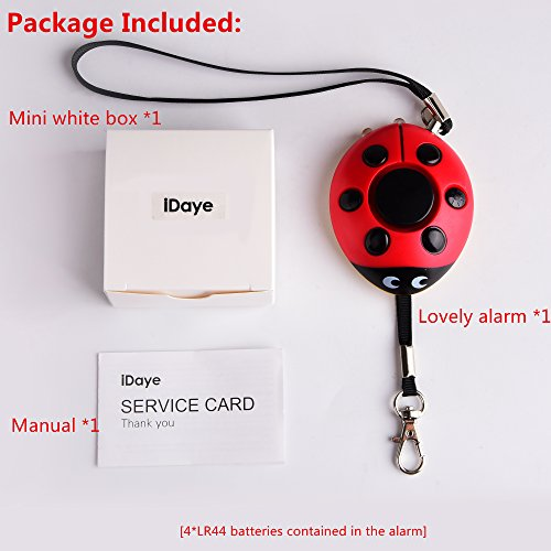 130db safety emergency personal alarm keychain with led. Black Bedroom Furniture Sets. Home Design Ideas