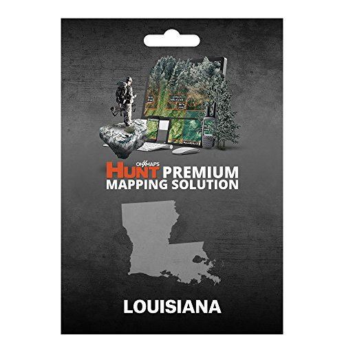 onXmaps HUNT Louisiana: Digital Hunting Map For Garmin GPS + Premium Membership For Smartphone and Computer Color Coded Land Ownership 24k Topo Hunting Specific Data