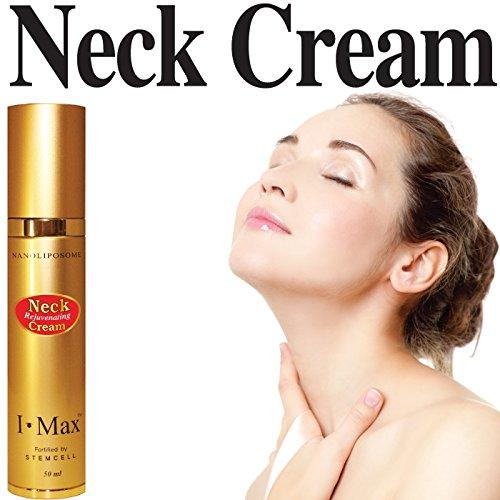 I Max Raffermissants & Lifting Crème Cou Réduction des rides et la peau fléchi fortifiée par les cellules souches, NanoLiposome, EGF, les peptides, les céramides, rétinol, vitamine BS, C et E pour les hommes et les femmes.