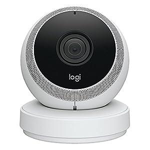 Logitech Circle Caméra Vidéo de Sécurité sans fil HD 1080p à Batterie avec Détection de Personnes, Zones de Mouvements et Alertes Personnalisées