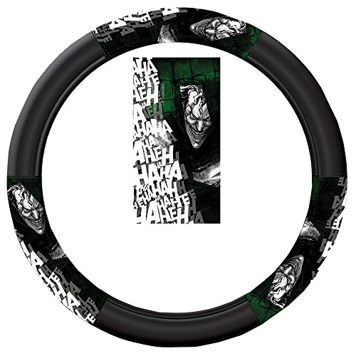 DC+Comics Products : The Joker Laughing Ha Ha Ha Batman DC Comics Auto Car Truck SUV Vehicle Universal-fit Steering Wheel Cover - Speed Grip