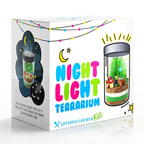 (Terrarium Kit for Kids - Toys for Girls or Boys - Science Crafts Garden Kits With LED Fairy Lights - DIY Art Stem Growing Experiments Great Birthday Gifts For 4 5 6 7 8 9 10 year old Children)