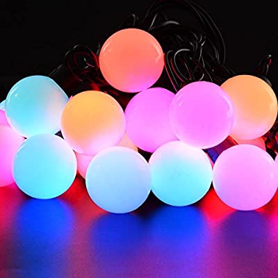 Christmas Lights,RGB Globe String Lights, 7 Color Changing Fairy Light for Indoor & Outdoor, Home, Garden, Patio, Party, Holiday, Wedding Decorations
