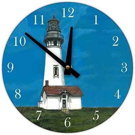 Instant Murals Decorative Wall Clock, Yaquina Lighthouse