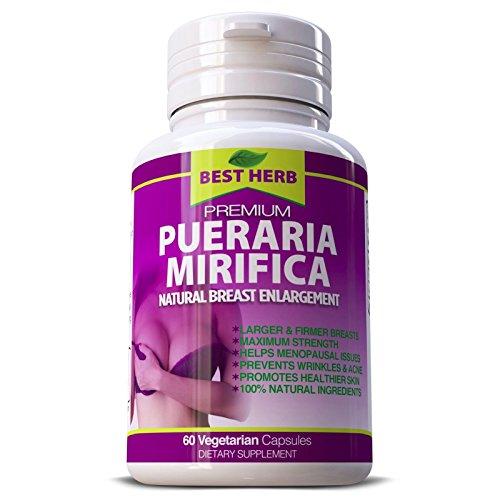 100% Pueraria Mirifica Capules 500mg Natural Breast Enlargement Large and Firmer Breast,Menopause,Healthy Hair Skin 60 Capsules