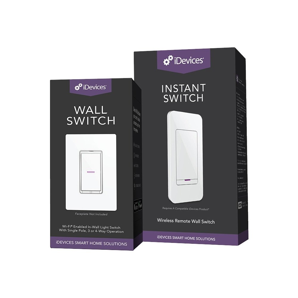 Idevices Wall Switch Instant Easy Pairing Simple 3 Light Faceplate Installation Way Control
