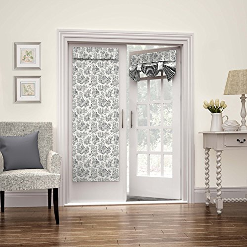 (Waverly 15419026068OYX Charmed Life 26-Inch by 68-Inch French Single Door Panel, Onyx)