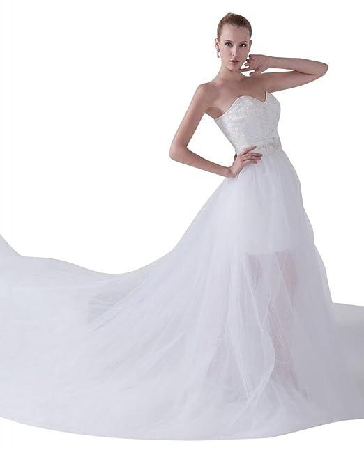 George Bride nuevo Bosquejo Traeger los desmontable croma vestido de novia Vestidos de novia Vestidos de Boda: Amazon.es: Ropa y accesorios