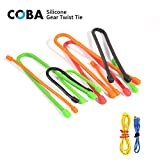 28 PACK COBA Gear Twist Ties, including 3, 6, 12 inch sizes. Reusable Cable Organizer for Computer, Car, Backpack, TV and Travel Tech, Suitable for Outdoor and Indoor. Environmental Friendly Materials