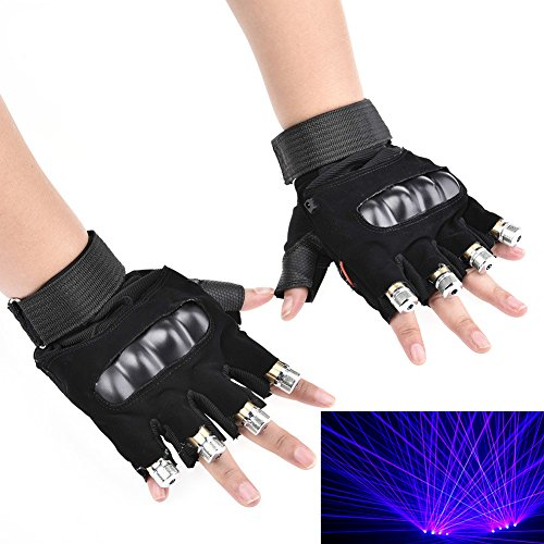 WNOSH 2 in1 LED Laser Gloves Finger Lamps For DJ Club Stage Dance Costume Party Bar Night Light Birthday Christmas Gifts (blue 1 pair hand) by WNOSH