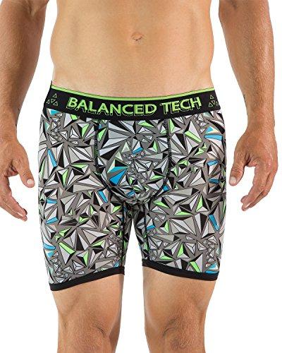 Balanced Tech Men's Active Sport Performance Boxer Briefs - Olive - Large ()