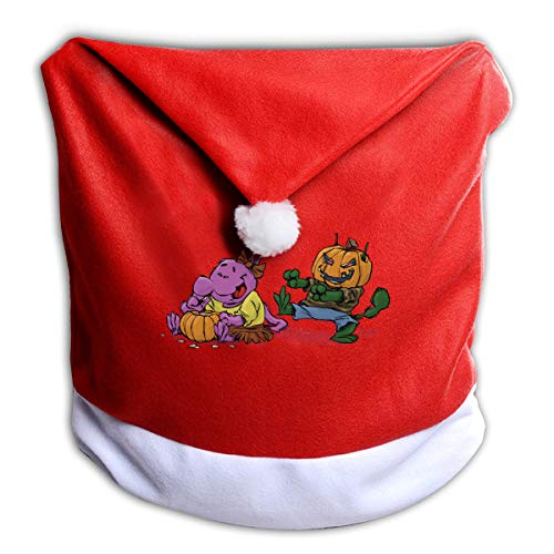 FUNMAX Halloween Pumpkin Animated Non-Woven Xmas Christmas Themed Dinner Chair Cap Hat Covers Set Ornaments Backers Protector for Seat Slipcovers Wraps Coverings Decorations -