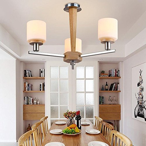 - DIDIDD Chandelier- 8 lights chandelier modern/contemporary traditional/classic vintage country wood feature for led wood living room bedroom dining room --interior lighting chandeliers,3