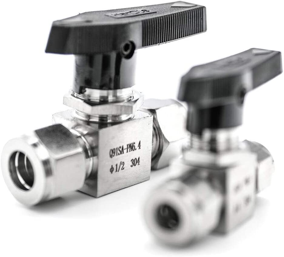 3mm-12mm Handle Shutoff Switch Ball Valve 1//8 1//4 3//8 1//2 OD Inch Tube SS304 316 Water Compression Valves Color : SS316, Size : 4mm OD