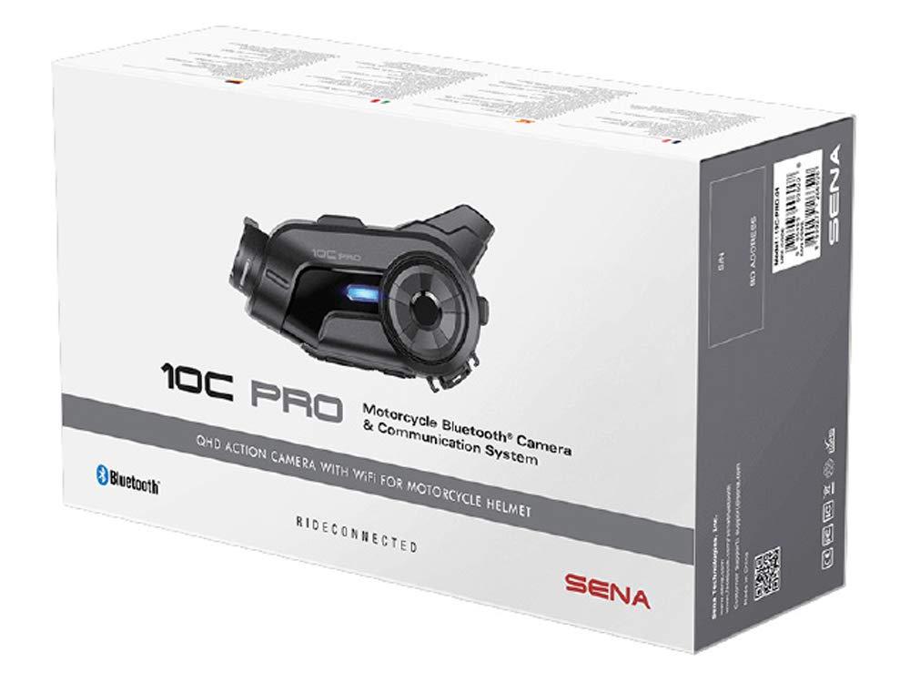 SENAセナ10C-PRO-01 Bluetoothインカム+カメラ(画質2K)多機能インターコム(専用スマホアプリ対応)正規品   B07PKSZQ5X