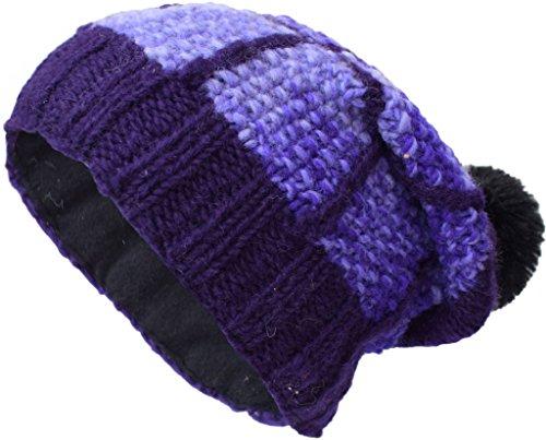 de parche Sombreros Poco lana multicolor F de Beanie Katmandú polar con forro de punto Uq16qnzp