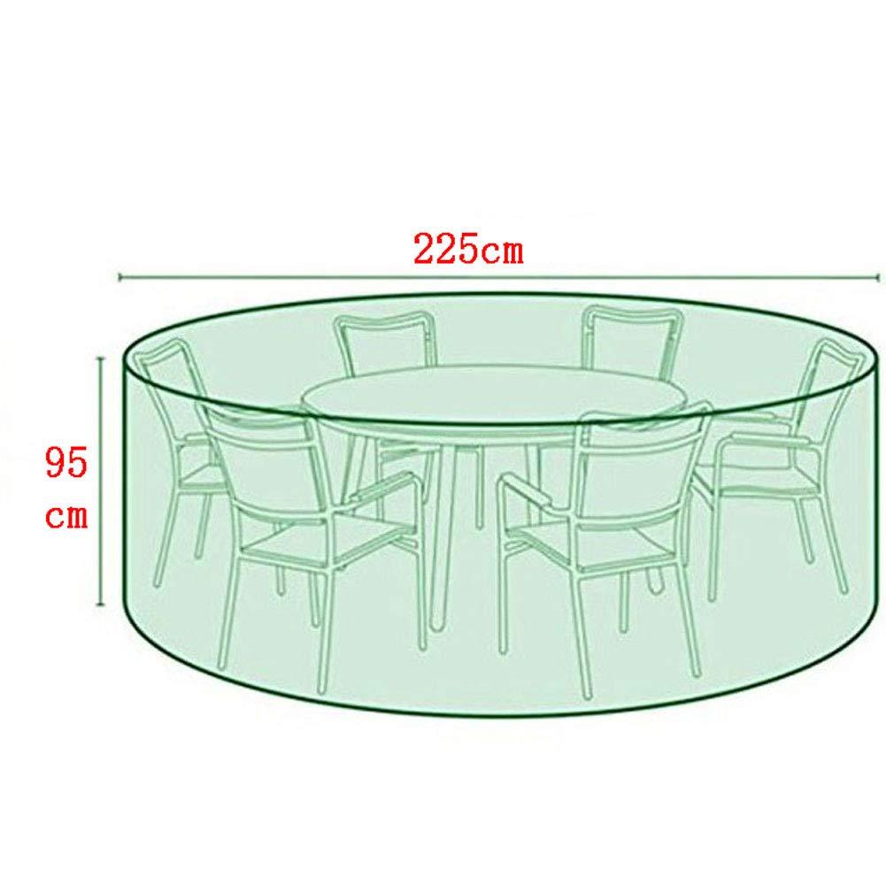 GXXASD Copertura Tavolo Rotondo da Giardino Telo Copri Tavolo Sedie Esterno Anti Vento Impermeabile Resistente allo Strappo Oxford Poliestere Mobili Coperture Protettiva,185 110cm