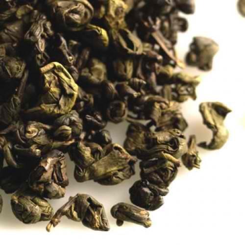 Gunpowder Green Single Origin Loose Leaf Tea Rolled Round Pellet Leaves Medium Body Fair Trade Certified - 1 Pound Pellets 1 Buck