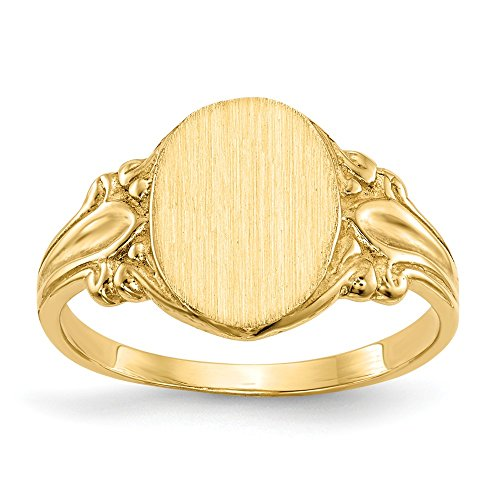 et Ring (Yellow Gold Womens Signet Ring)