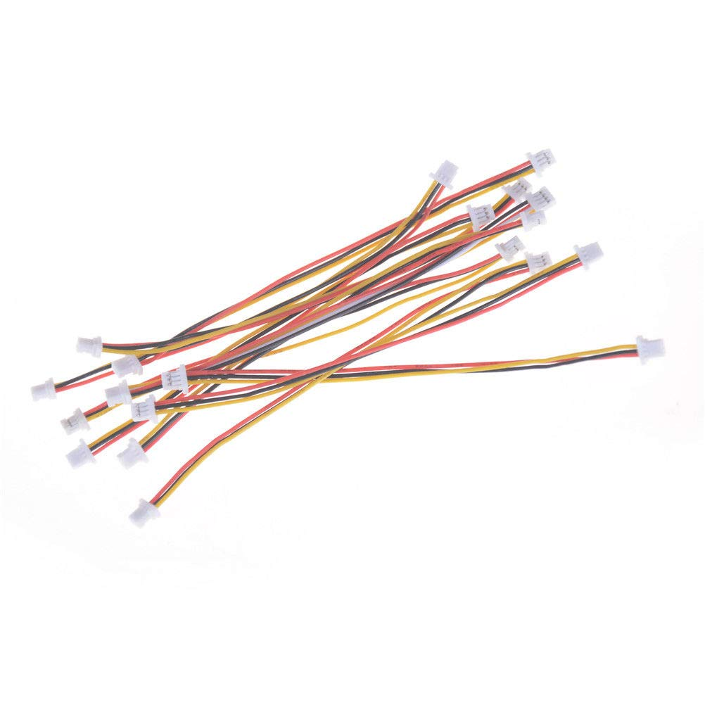10 x Mini Micro SH 1.0mm 3-Pin JST Double Connector Plug Wires Cables 100MM W0