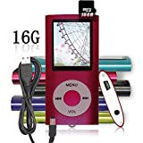 Tomameri 16G Portable MP3 MP4 Player Video Player with Photo Viewer , E-Book Reader , Voice Recorder- Red