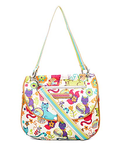 Lily Bloom QUINN CONVERTIBLE Crossbody Bag, Feline Fun, Eco Friendly