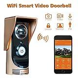 FAFA Wireless Smart Doorbell Door Phoner Wi-Fi Enabled Video Door Viewer Night Vision Visual Intercom for Home Security Surveillance Monitoring
