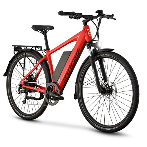 Juiced Bikes CrossCurrent X - Electric Commuter Bike (Red, Medium 16