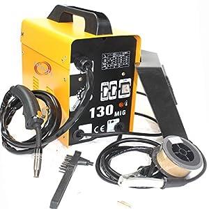 120amp Mig 130 220v Flux Core Welding Machine Welder Spool Wire Auto Feed + Fan from Generic