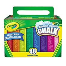 Washable Sidewalk Chalk, 48 Assorted Bright Colors by Crayola