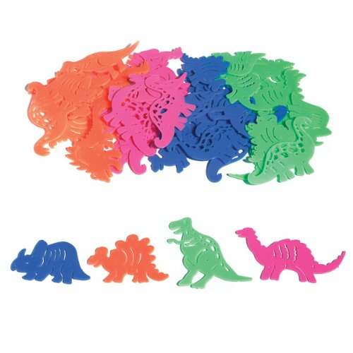 Dinosaur Stencils - Lot of 48 Assorted Mini Dinosaur