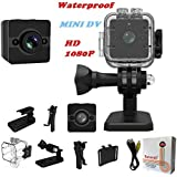 Sansnail Waterproof Mini Cam SQ12 HD Sport Action Cam Night Vision Camcorder 1080P DV Video Recorder Infrared Car DVR Camera Motion Detection for Bicycle Motorcycle Ski Diving Snorkeling