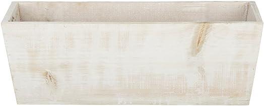 White-Washed Wood Shelf Vase – 16 x 6 x 5.5 Set of 2