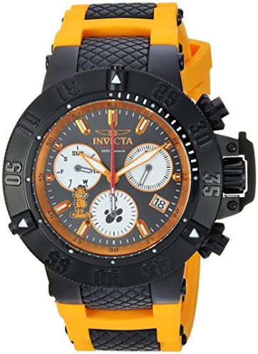 Invicta Men s Character Collection Stainless Steel Quartz Watch with Silicone Strap, Orange, 26 Model 24999