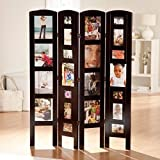Living Room Divider, Frame,Foldable, 4 Panel,Rosewood