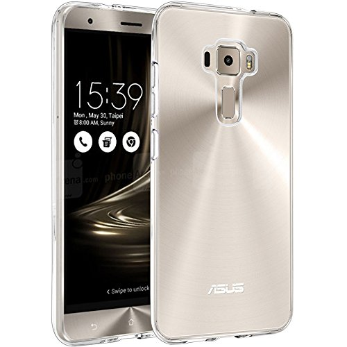 ZenFone 3 ZE520KL (5.2 inch) Case , MicroP(TM) Nature TPU Soft Cover Crystal Case Clear Skin Soft Case Sl Case for Asus ZenFone 3 ZE520KL - Retail Packaging (Clear TPU) (Phone Cell Case Skin)