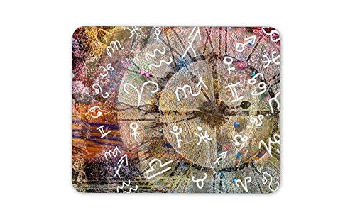 (Astrology Pagan Sundial Mouse Mat Pad - Horoscope Star Sign Computer Gift HB4666)