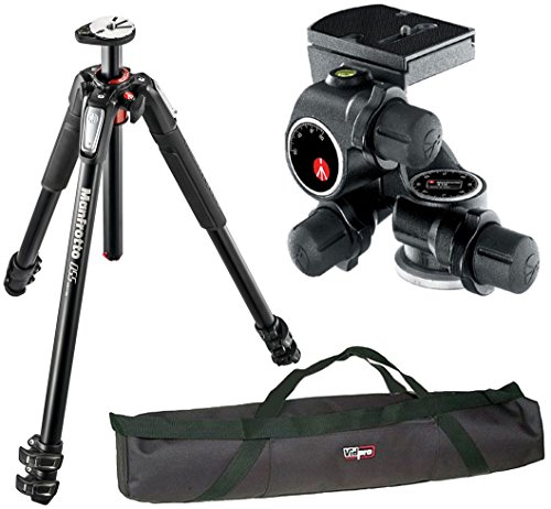 Manfrotto MT055XPRO3 Aluminium 3-Section Tripod kit with 410