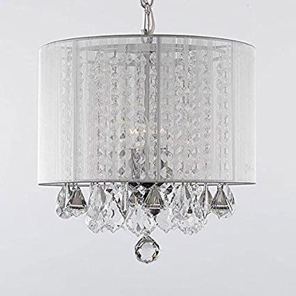 Crystal chandelier chandeliers with large white shade h15 x w15 crystal chandelier chandeliers with large white shade h15 x w15 aloadofball Gallery