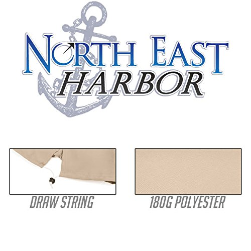 North East Harbor UMBR011 Cover Protective Storage 10' Ft Hanging Umbrella Offset Tan Color