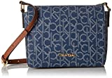Calvin Klein Key Item Monogram Flap Crossbody, Navy/Glacier