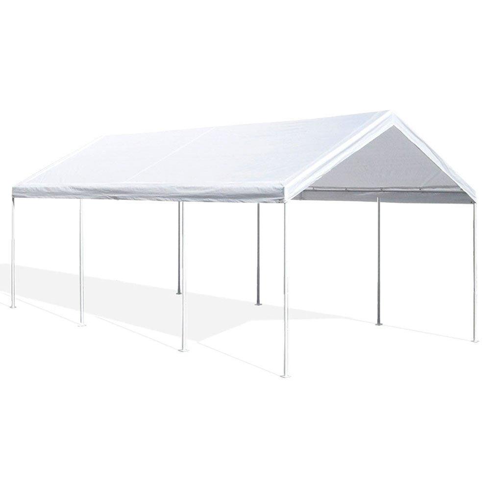 Gazebo carport garage auto struttura acciaio l3xp6mt tetto esterno ...