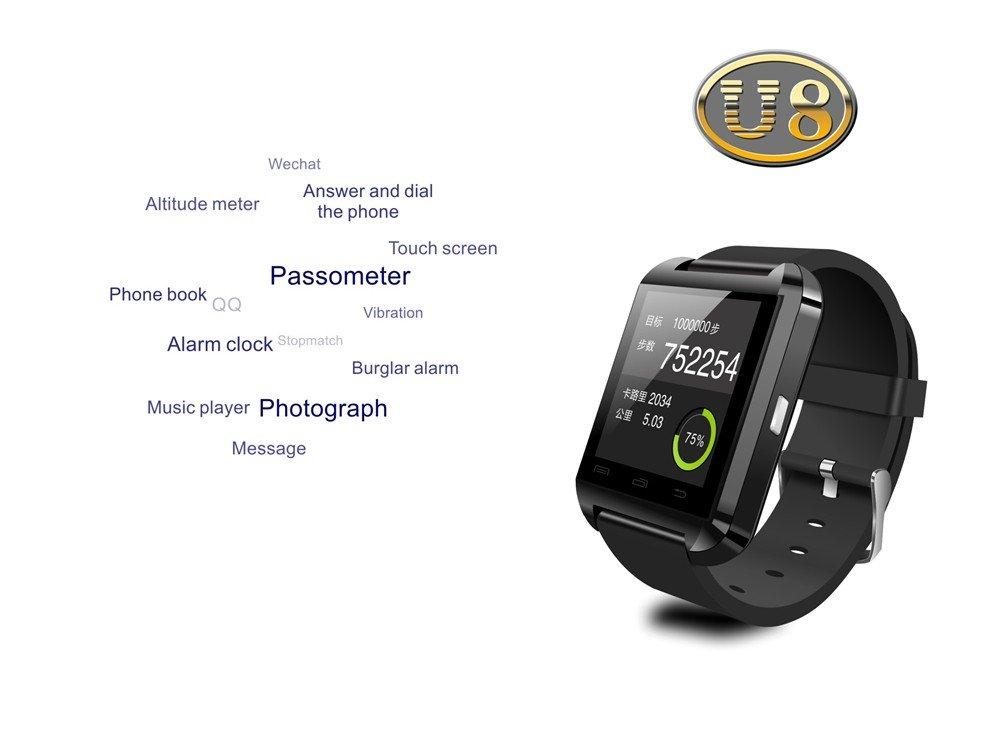Amazon.com: Bluetooth Smart Watch Smartwatch U8 U80 U MTK ...