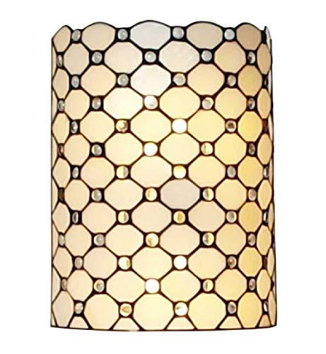Amora Lighting AM041WL10B Wall Tiffany Lamp, White