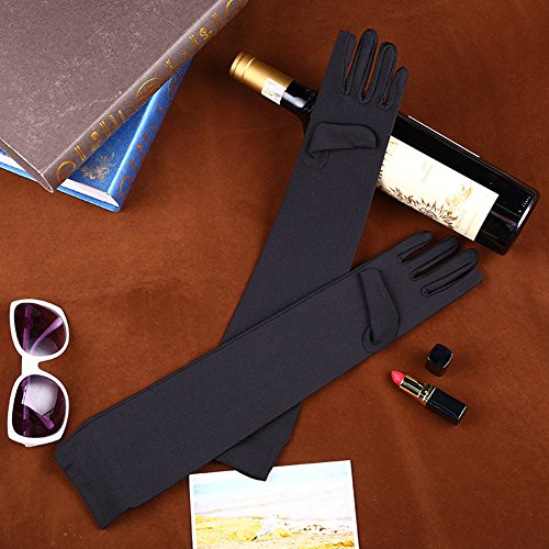 Fasker Womens Satin Evening Gloves 21'' Long Party Dance Elbow Length Opera Gloves