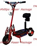 Super Cycles & Scooters - Super Turbo 1000-Elite - 36V Electric Scooter - 2-Wheel - Red - PHILLIPS POWER PACKAGE TM - TO $500 VALUE